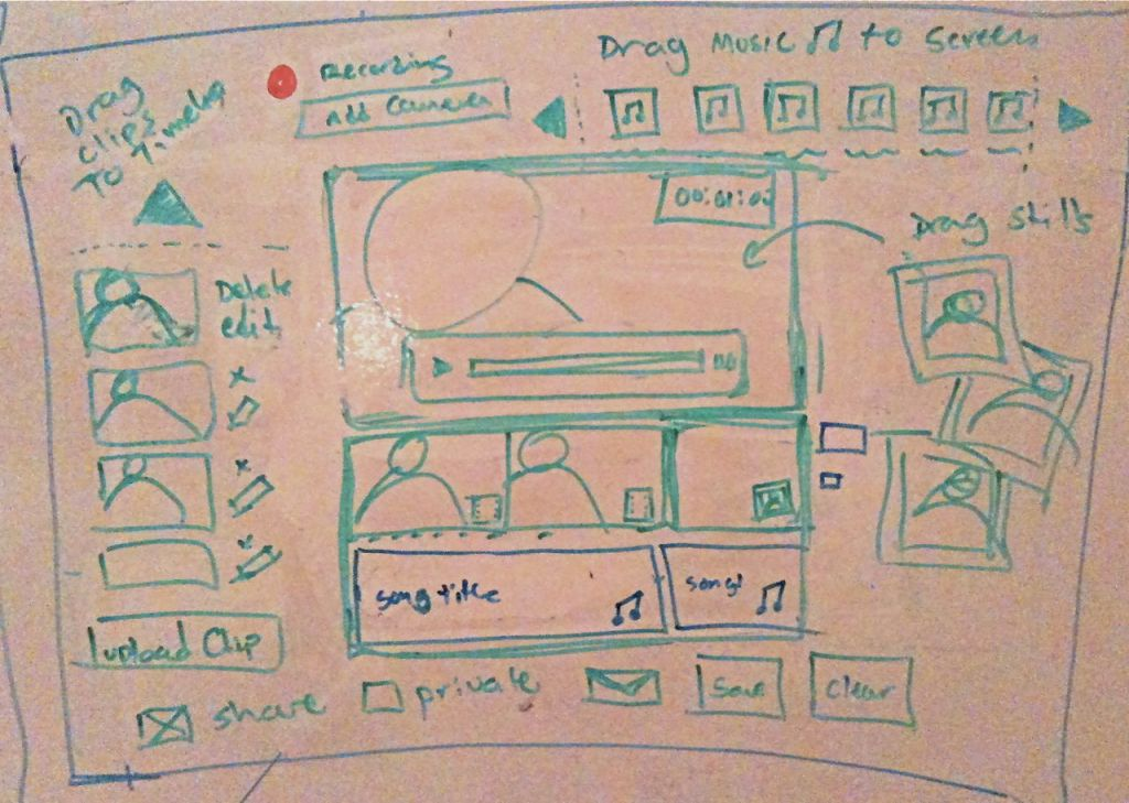 Sketch for a flash video editor.