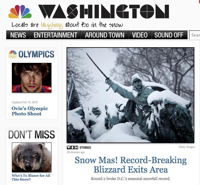 NBC Washington Home Page